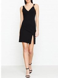 Versus By Versace Safety Pin Detail Plunge Dress Black