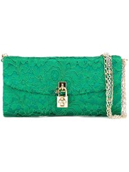 Dolce And Gabbana 'Dolce' Clutch Green