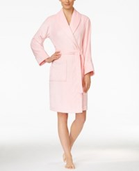Charter Club Petite Super Soft Shawl Collar Short Robe Only At Macy's Pink