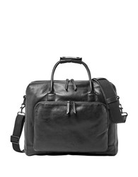 Fossil Carson Leather Briefcase Black