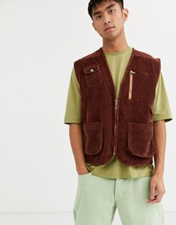 Brooklyn Supply Co. Co Utility Gilet In Brown