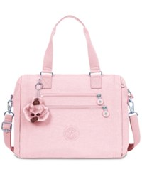 Kipling Bevine Medium Satchel Blushing Pink Silver