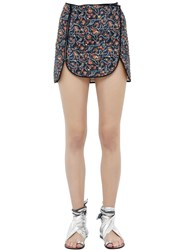 Isabel Marant Quilted Printed Cotton Mini Skirt