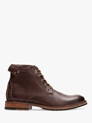 Clarks Clarkdale Bud Leather Boots Mahogany