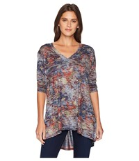 Nally And Millie V Neck Burnout Floral Print Top Multi Clothing