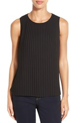 Women's Gibson Sleeveless Pleat Top Black