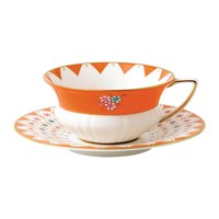 Wedgwood Wonderlust Teacup And Saucer Peony Diamond