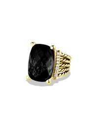 Wheaton Ring With Black Onyx And Diamonds In Gold David Yurman