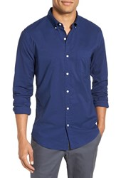 Men's Bonobos Trim Fit Solid Sport Shirt Medieval Blue