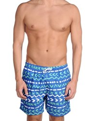 Franks Swimwear Swimming Trunks Men Blue
