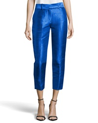 Missoni Cropped Dupioni Ankle Pants Bright Cobalt
