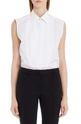 Dolce And Gabbana Women's Sleeveless Tuxedo Top