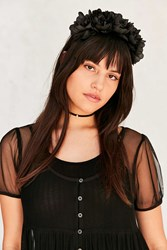 Urban Outfitters Gothic Flower Crown Headband Black