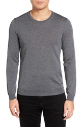 Boss Men's Leno B Crewneck Wool Sweater Grey