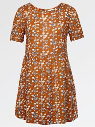 Fat Face Louisa Painted Blossom Dress Ginger