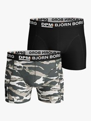 Bjorn Borg Tiger Stripe Camo Print Trunks Pack Of 2 Multi