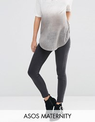 Asos Maternity Rivington Jegging In Washed Black With Under The Bump Waistband Black