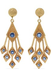 Fred Leighton 1960S 18 Karat Gold Sapphire Earrings