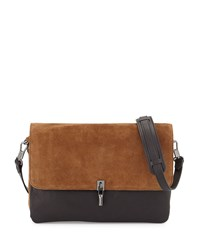Cynnie Suede Leather Messenger Bag Black Coco Elizabeth And James