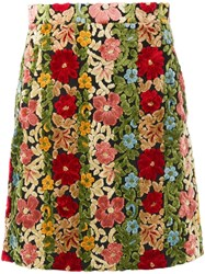 Etro Floral Embroidered Skirt