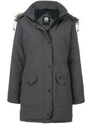 Canada Goose Fur Hooded Coat Grey