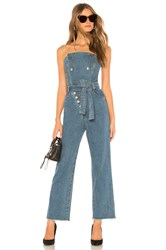 Marissa Webb Marselle Jumpsuit Distressed Blue