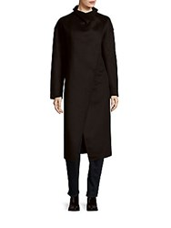 Badgley Mischka Wrap Style Long Coat Black