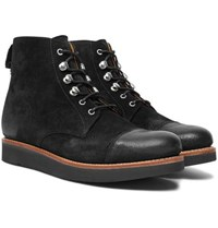 Grenson Newton Brushed Suede Boots Black
