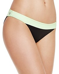 Sole East Kuta Color Block Hipster Bikini Bottom Lime Hot Pink