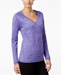 Ideology Essential Long Sleeve Performance Top Blazing Purple