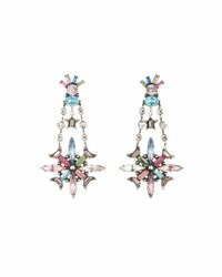 Dannijo Jamilah Crystal Statement Earrings Multi