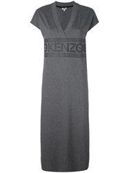 Kenzo Logo Midi Dress Grey