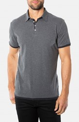 Men's 7 Diamonds 'Ultimate' Polo Charcoal