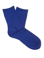 Falke Touch Cotton Blend Socks Blue