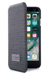 Ted Baker London Iphone 7 And 7 Plus Card Slot Folio Case Grey Grey Navy