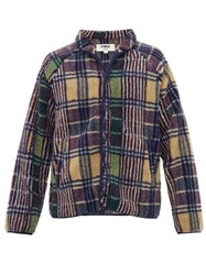 Ymc Beach Checked Borg Fleece Jacket Multi