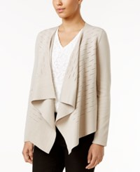 Alfani Draped Cardigan Only At Macy's French Stone