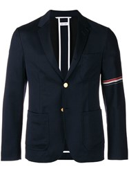 Thom Browne Striped Sleeve Blazer Blue