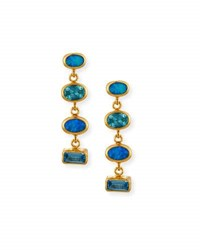 Gurhan Amulet Hue Opal And Blue Topaz Drop Earrings