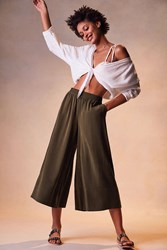 Silence And Noise Lara Mid Rise Culotte Pant Olive