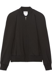 Dkny Cape Effect Wool Blend Bomber Jacket Black
