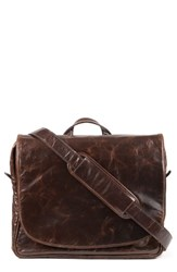 Moore And Giles Men's Wynn Leather Messenger Bag Brown Brompton Brown
