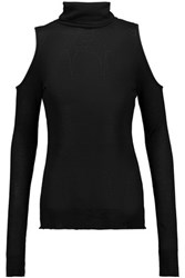 W118 By Walter Baker Maria Cutout Stretch Jersey Top Black
