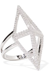 Noir Jewelry Sant'angelo Silver Tone Crystal Ring 5