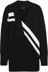 Rag And Bone Grace Striped Merino Wool Sweater Black