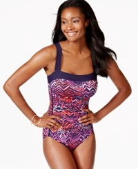 Inc International Concepts Printed One Piece Swimsuit Only At Macy's Women's Swimsuit