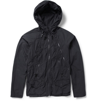 Undercover Printed Cotton Lightweight Hooded Jacket Black