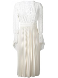 Philosophy Di Lorenzo Serafini Floral Pleated Dress Nude And Neutrals