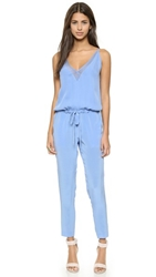 Mason By Michelle Mason Chiffon Panel Jumpsuit Cornflower