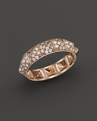 Bloomingdale's Diamond Pyramid Stud Band Ring In 14K Rose Gold .50 Ct. T.W. Pink